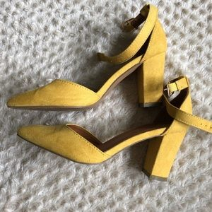 Faux Suede Heeled Sandals